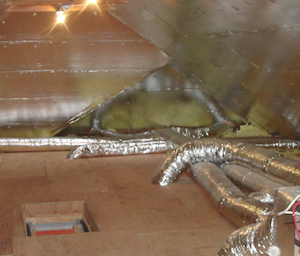 HVAC ducts in an unconditioned attic